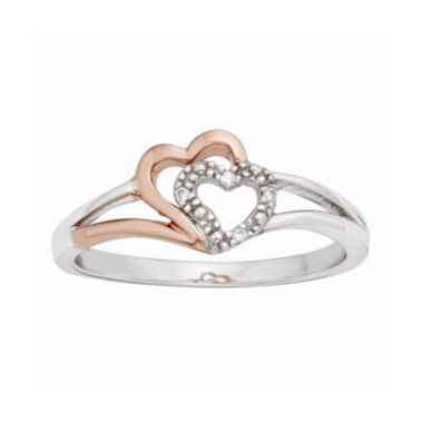 jcpenney.com | Diamond-Accent Two-Tone Double-Heart Promise Ring