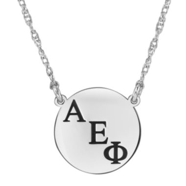 jcpenney.com | Personalized Greek Letters 16mm Circle Pendant Necklace