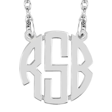 jcpenney.com | Personalized 10mm Block Monogram Necklace