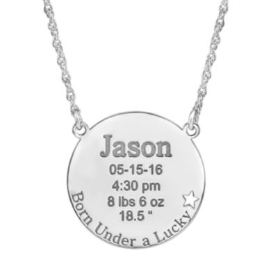 jcpenney.com | Personalized Born Under a Lucky Star Birth Necklace