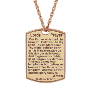 jcpenney.com | Personalized Lord's Prayer Pendant Necklace