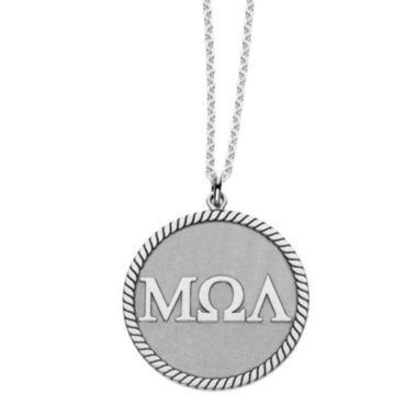 jcpenney.com | Personalized Greek Letters 20mm Rope-Border Circle Pendant Necklace