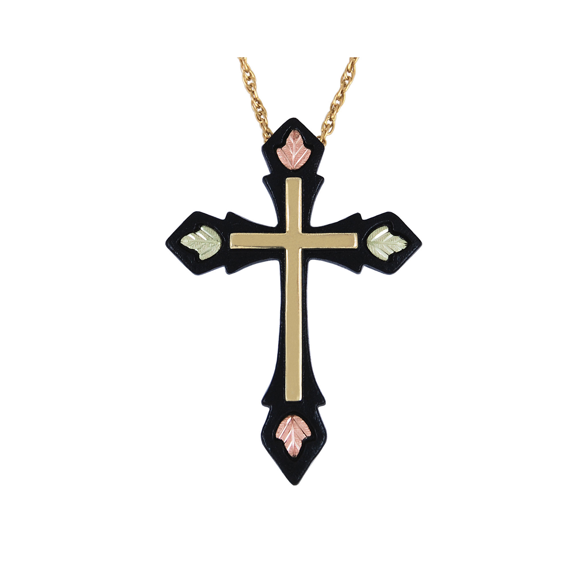 Black Hills Gold Jewelry by Coleman Cross Pendant Necklace