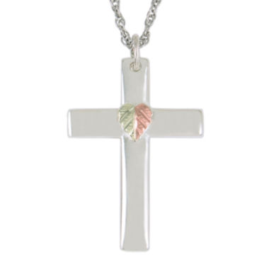 jcpenney.com | Black Hills Gold Jewelry by Coleman® Sterling Silver Cross Pendant Necklace
