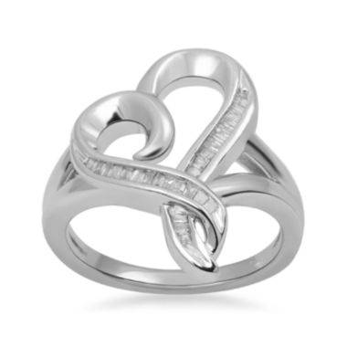 jcpenney.com | Hallmark Diamonds 1/4 CT. T.W. Diamond Heart Ring