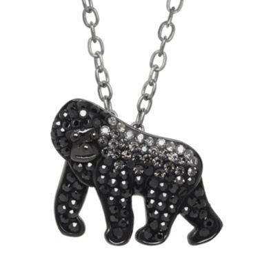 jcpenney.com | Animal Planet™ Crystal Sterling Silver Silverback Mountain Gorilla Pendant Necklace