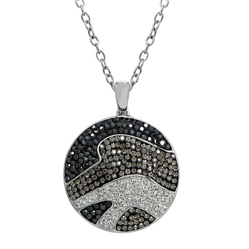 Animal Planet™ Crystal Sterling Silver Endangered Hector's Dolphin Pendant Necklace