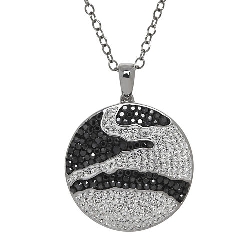 Animal Planet™ Crystal Sterling Silver Endangered Galapagos Penguin Pendant Necklace
