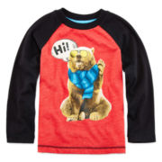 Arizona Long-Sleeve Graphic Raglan Tee - Toddler Boys 2t-5t