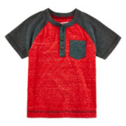 Arizona Raglan Henley Tee - Toddler Boys 2t-5t