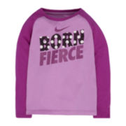 Nike® Long-Sleeve Graphic Tee - Preschool Girls 4-6x