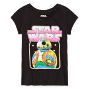Star Wars Graphic Glitter Tee - Girls 7-16