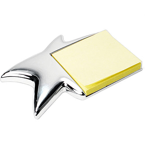 Natico Silver-Tone Star Memo Pad Holder