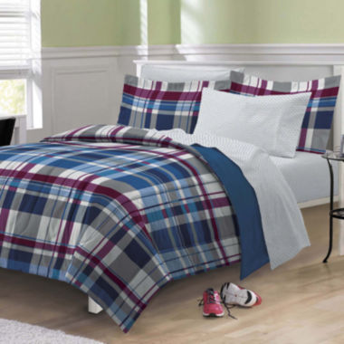 jcpenney.com | My Room Varsity Plaid Complete Bedding Set with Sheets
