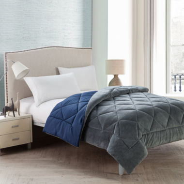 jcpenney.com | VCNY Kyle Plush Plaid Reversible Comforter