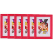 "Set of 6 5x7"" Picture Frames"