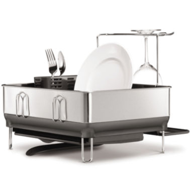 jcpenney.com | simplehuman® Compact Stainless Steel Frame Dish Rack