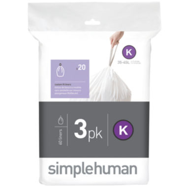 jcpenney.com | simplehuman® Custom Fit Trash Can Liners Code K - 60-Pack