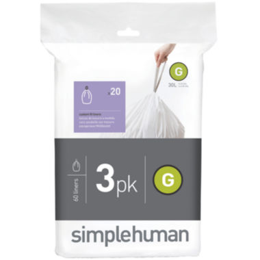 jcpenney.com | simplehuman® Custom Fit Trash Can Liners Code G - 60-Pack