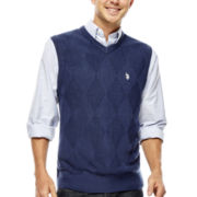 U.S. Polo Assn.® Solid Argyle Sweater Vest