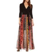 Trulli 3/4 Sleeve Maxi Dress