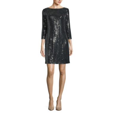 jcpenney.com | Jessica Howard 3/4 Sleeve Shift Dress