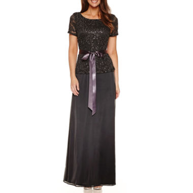 jcpenney.com | Blu Sage Short Sleeve Sequin Evening Gown