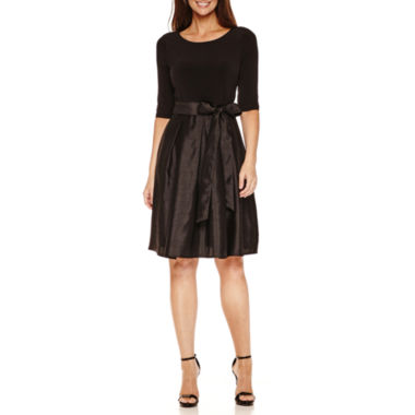 jcpenney.com | Liz Claiborne 3/4 Sleeve Fit & Flare Dress