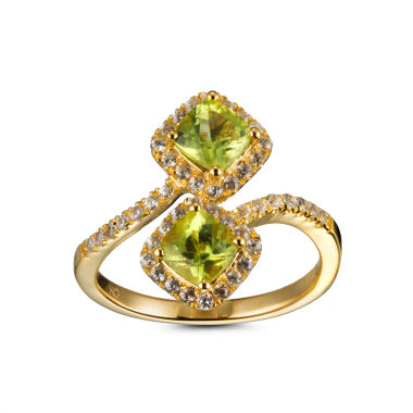 jcpenney.com | Womens Green Peridot 14K Gold Over Silver Bypass Ring