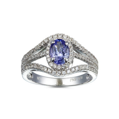 jcpenney.com | Womens Purple Tanzanite Sterling Silver Halo Ring