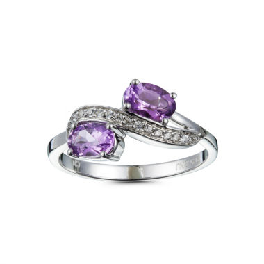 jcpenney.com | Womens Purple Amethyst Bypass Ring