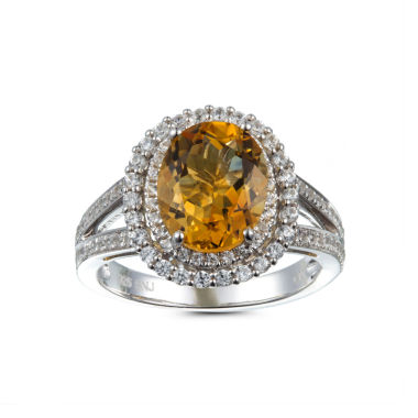jcpenney.com | Womens Yellow Citrine Sterling Silver Halo Ring