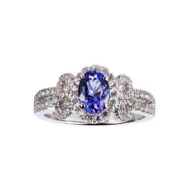 jcpenney.com | Womens Blue Tanzanite Sterling Silver Halo Ring