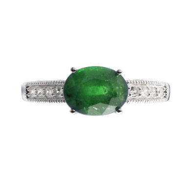 jcpenney.com | Womens Green Sterling Silver Solitaire Ring