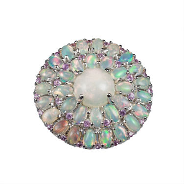 jcpenney.com | Womens White Opal Sterling Silver Halo Ring