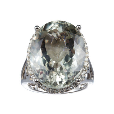 jcpenney.com | Womens Green Amethyst Sterling Silver Cocktail Ring