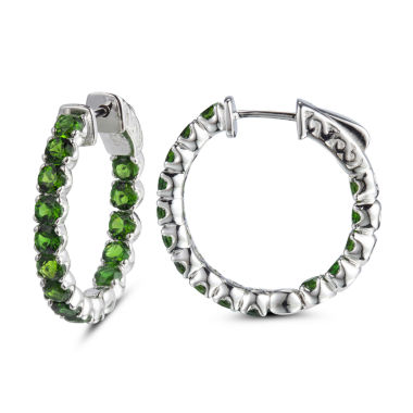 jcpenney.com | Green Sterling Silver Hoop Earrings