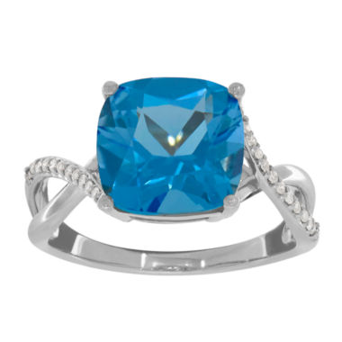 jcpenney.com | Womens Diamond Accent Blue Topaz 10K Gold Cocktail Ring