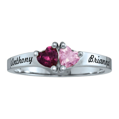 jcpenney.com | Personalized Birthstones Sweetheart Couples Ring