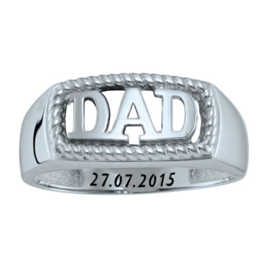 "jcpenney.com | Personalized Men's ""Dad"" Ring"