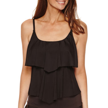jcpenney.com | Liz Claiborne Solid Tankini Swimsuit Top