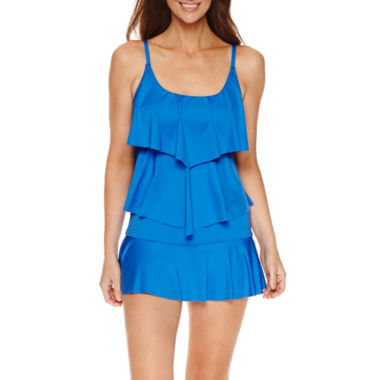 jcpenney.com | Liz Claiborne® Tiered Tankini or Swim Bottoms