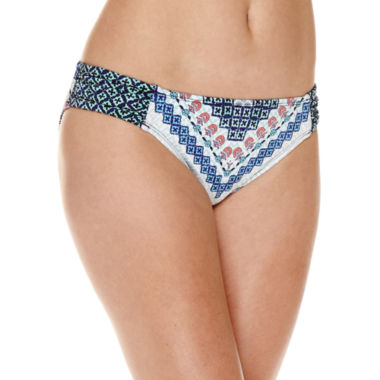 jcpenney.com | Liz Claiborne Pattern Hipster Swimsuit Bottom