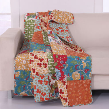 jcpenney.com | Greenland Home Fashions Terra Blossom Quilted Throw