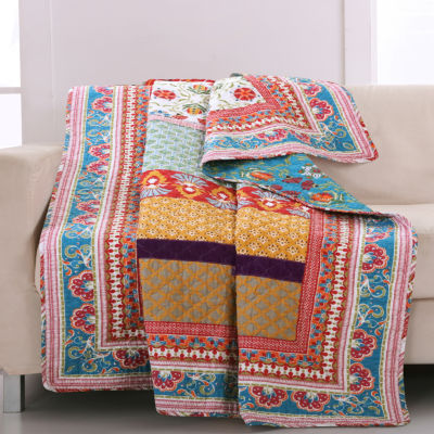 greenland home fashions thalia quilted throw - Greenland Home Fashions