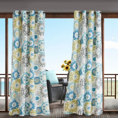 jcpenney.com | Madison Park Carmel Grommet-Top Outdoor Curtain