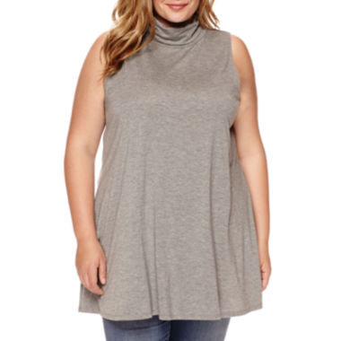jcpenney.com | Stylus™ Sleeveless Tunic Turtleneck - Plus