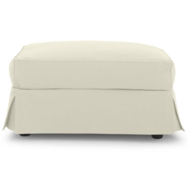 jcpenney.com | Friday Twill Slipcovered Ottoman