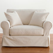 Friday Twill Slipcovered Chair-and-a-Half