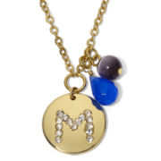 Gold-Tone Initial M Charm Pendant